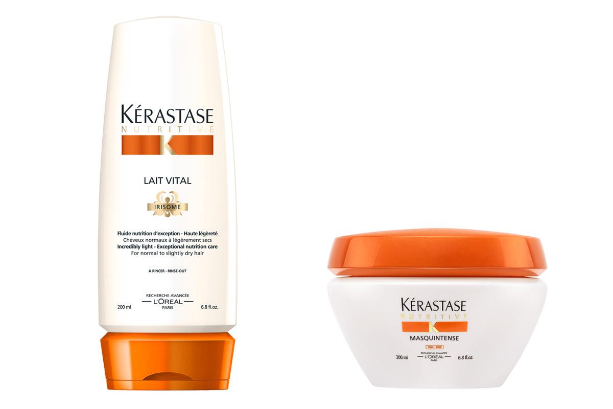 Péče pro suché vlasy od Kérastase – Nutritive Irisome: Lait vital a intenzivní maska na vlasy