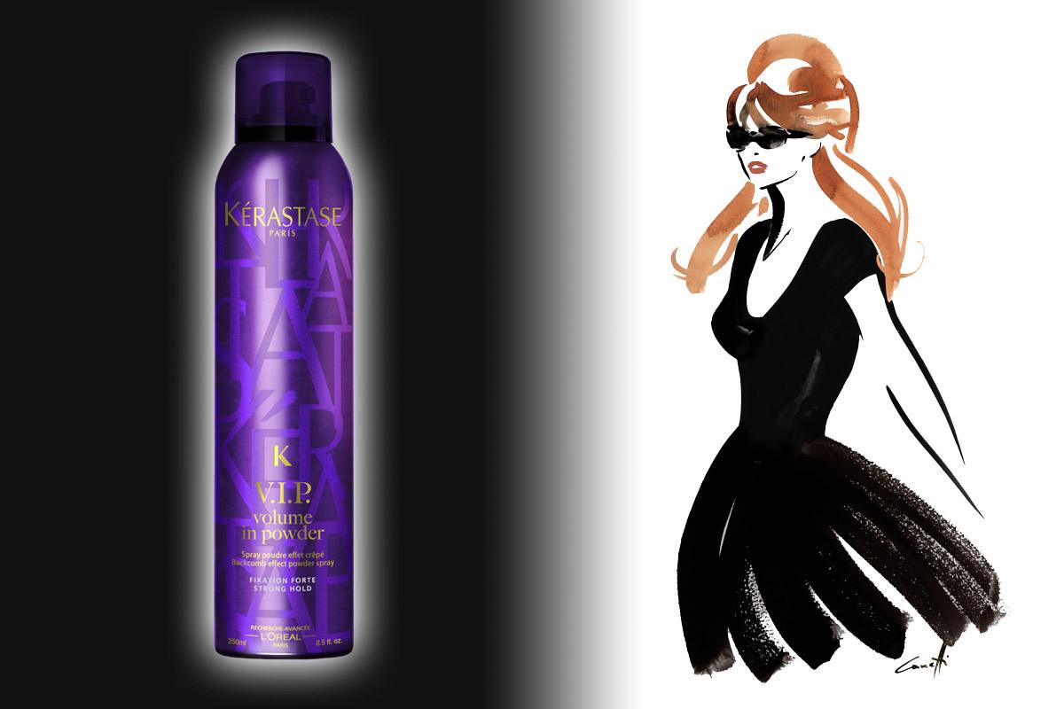 V.I.P. VOLUME IN POWDER – Pudrový sprej pro efekt tupírovaných vlasů pro 24-hodinový objem.