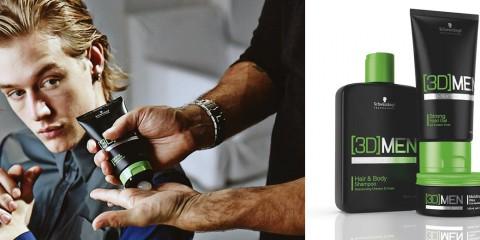 [3D]MEN predstavuje prvú značku Schwarzkopf Professional, ktorá je 100% určená pre mužov. Vlasová kozmetika pre mužov obsahuje šampón, starostlivosť aj styling.