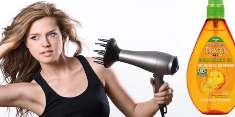 Chráňte svoje vlasy pred teplom a vysúšaním počas žehlenia alebo fénovania! Vlasový olej Garnier urýchľuje sušenie a chráni vlasy pred teplom.