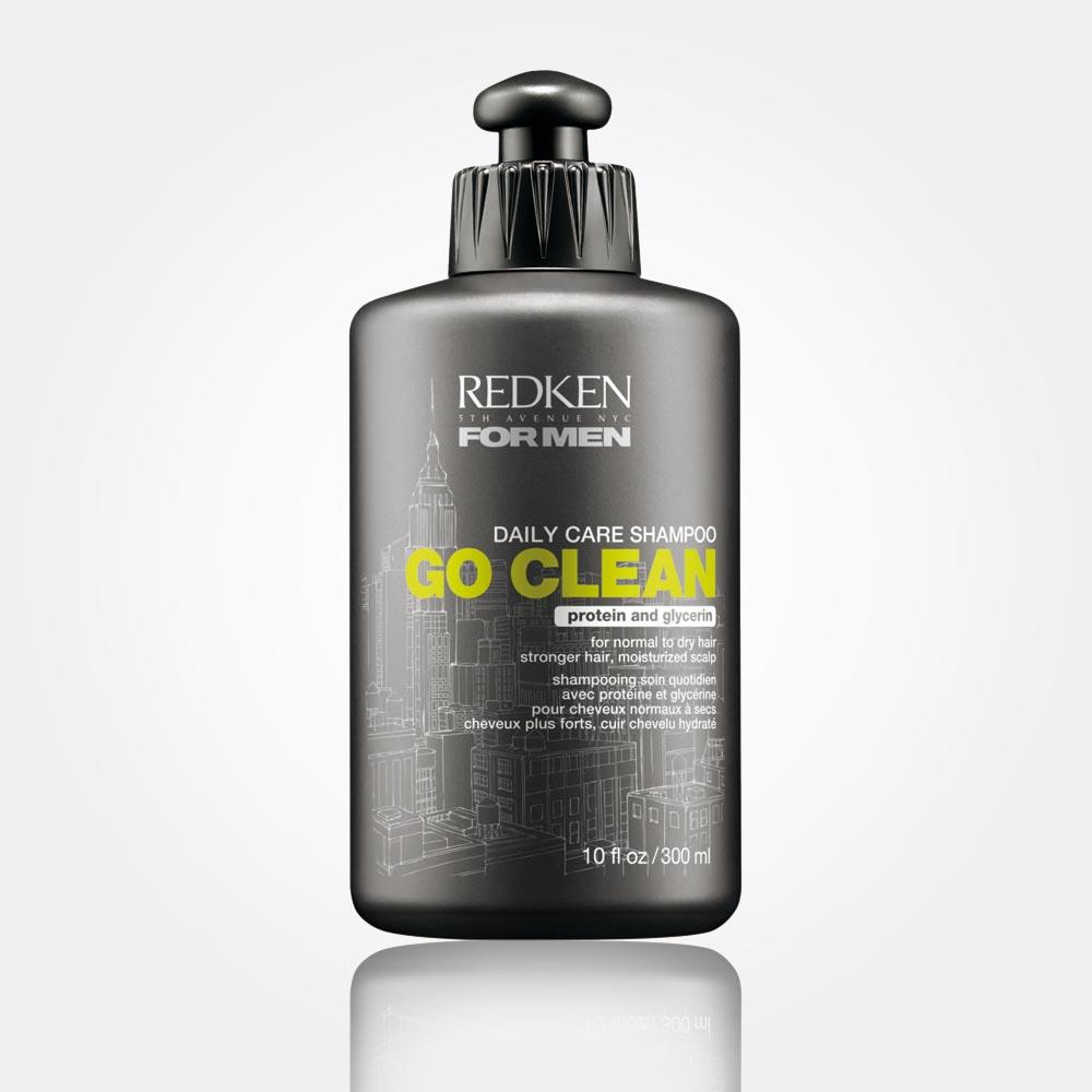 Hydratačný šampón pre mužov REDKEN Go Clean: dodá hydratáciu vlasom aj vlasovej pokožke.