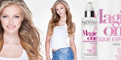 Vyskúšajte bezoplachovú masku na vlasy Magic One 10 v 1 od Franck Provost! Sľubuje dodať našim vlasom všetko čo potrebujú v jednom jedinom produkte.