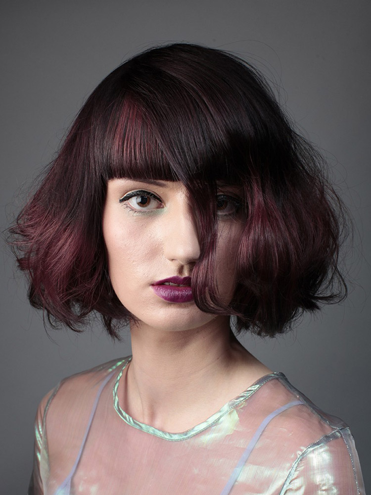 Účesy pre polodlhé vlasy jeseň/zima 2014/2015: Čin čin sangria.
