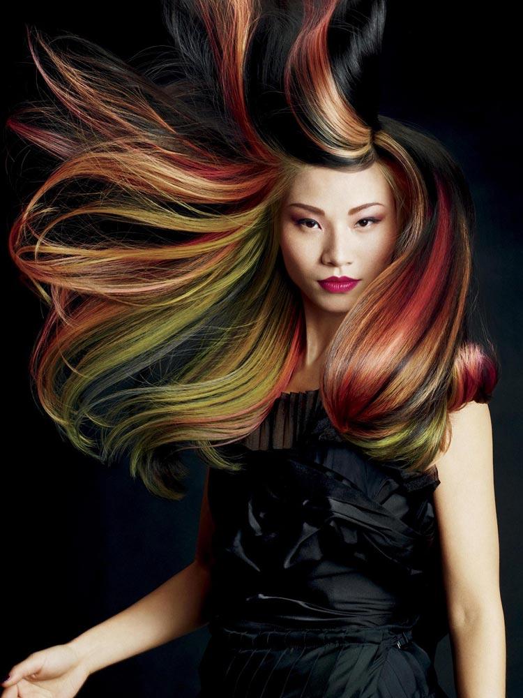 Účesy pre dlhé vlasy – nové trendy pre jeseň   zima 2014 2015  Farebné 9b10bb2d24c