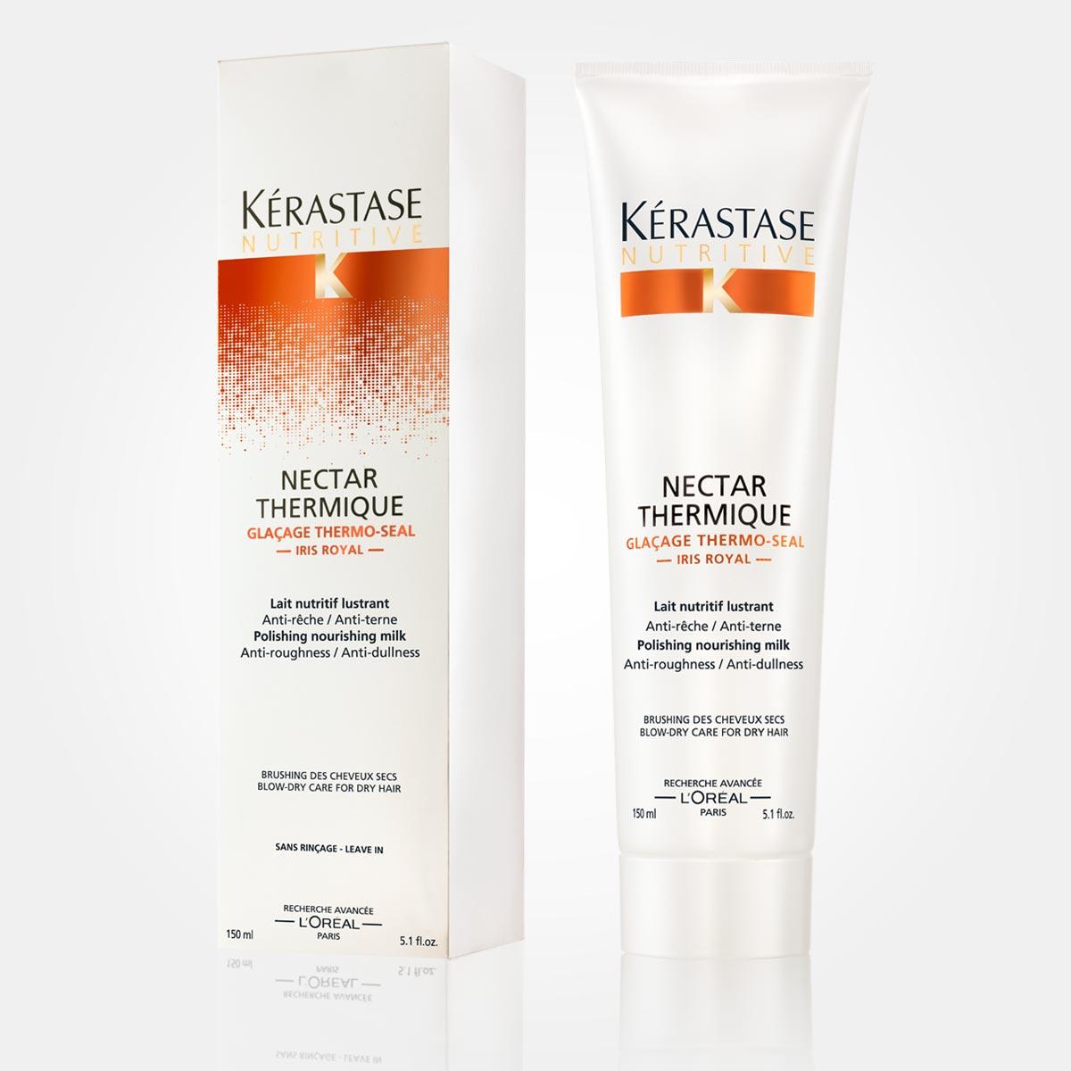 Nectar Thermique – pre suché vlasy. Vyživujúce mlieko pre lesk vlasov.
