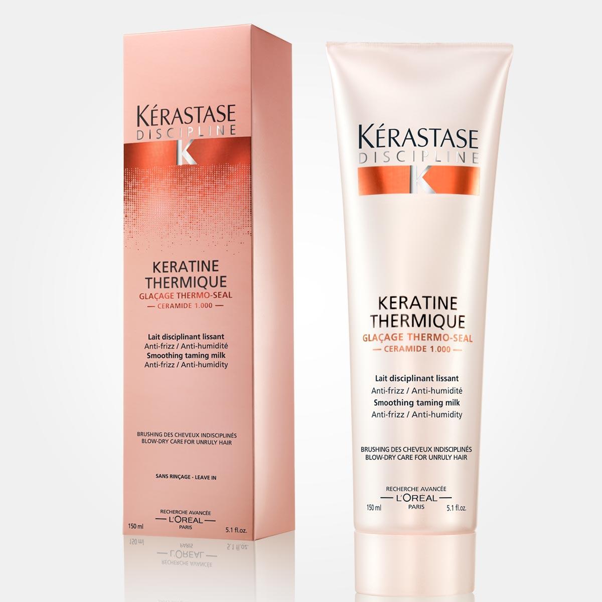 Keratín Thermique – pre nepoddajné vlasy. Uhladzujúce mlieko pre poddajné vlasy