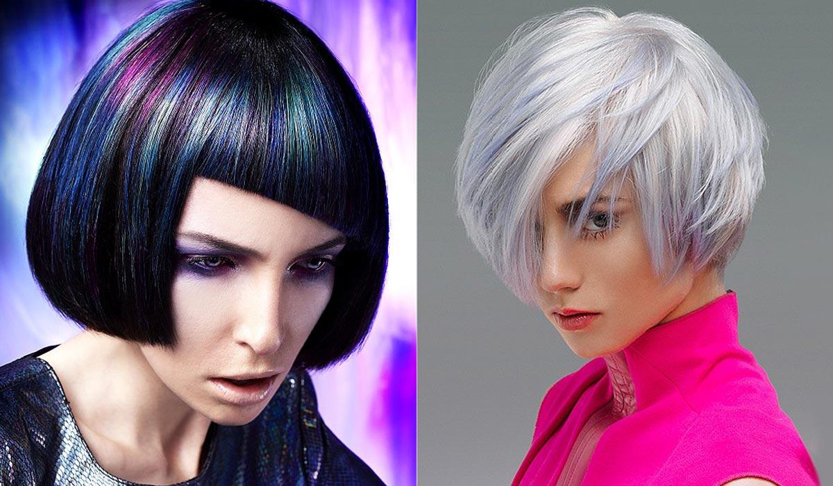 Modrý melír vyzerá skvele na tmavých vlasoch aj ako extravagantné spestrenie blond účesov. Aj na blond však môže vyzerať decentne ak vsadíte na dymový odtieň.