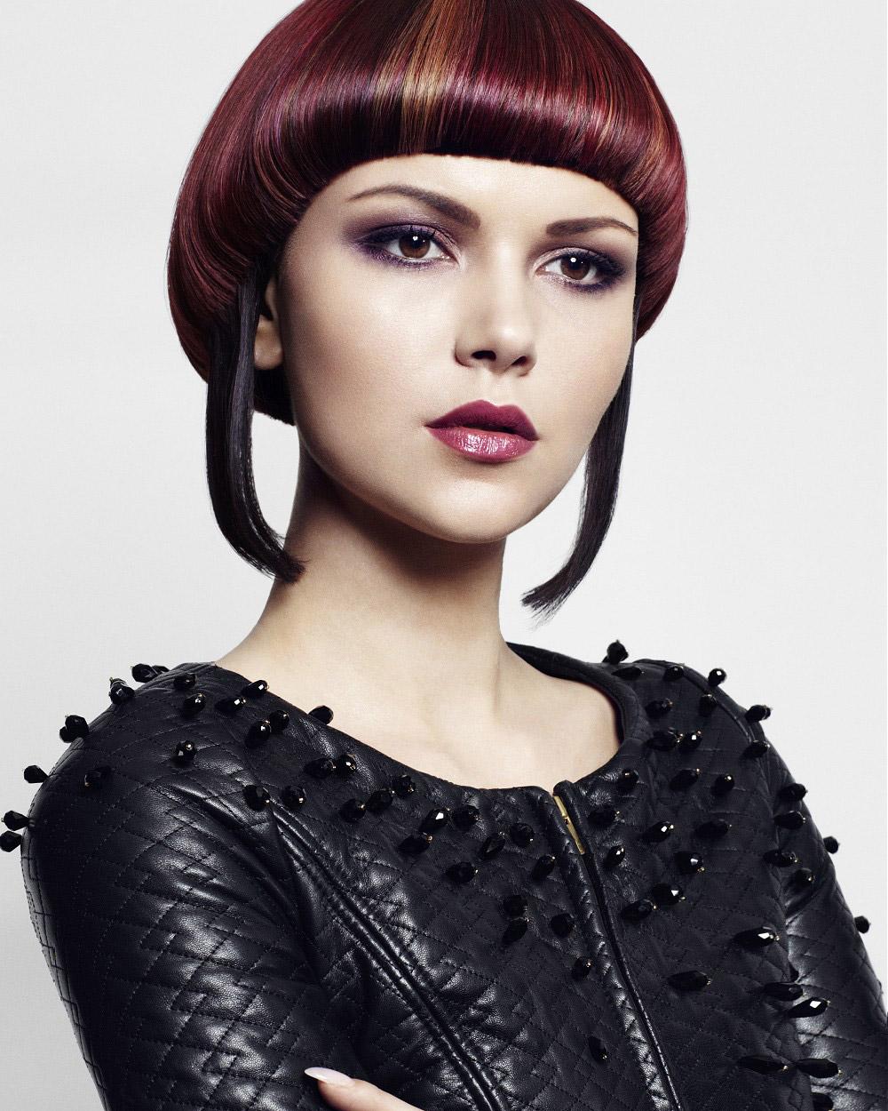 Marsala farba bude v roku 2015 farbou roka tiež pre účesy! (Účes: Spirit Hair Company)