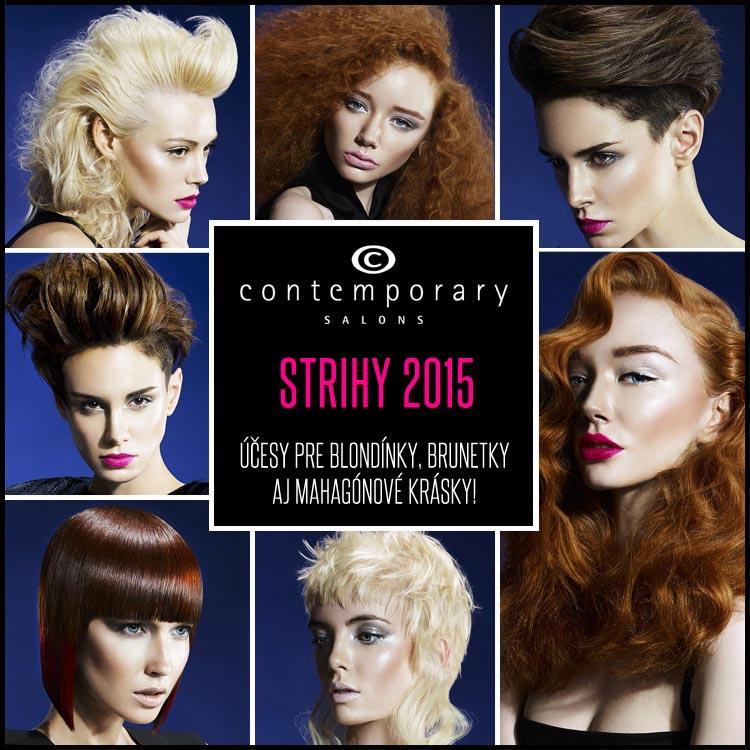 Nové účesy pre blondínky, účesy pre brunetky a mahagónové účesy podľa Contemporary Salons.