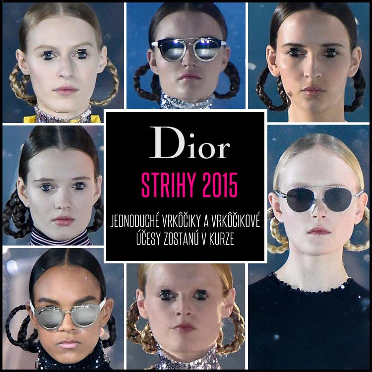 Módnu kolekciu Dior Pre-fall 2015 sprevádzajú podarené účesy s vrkôčikmi.