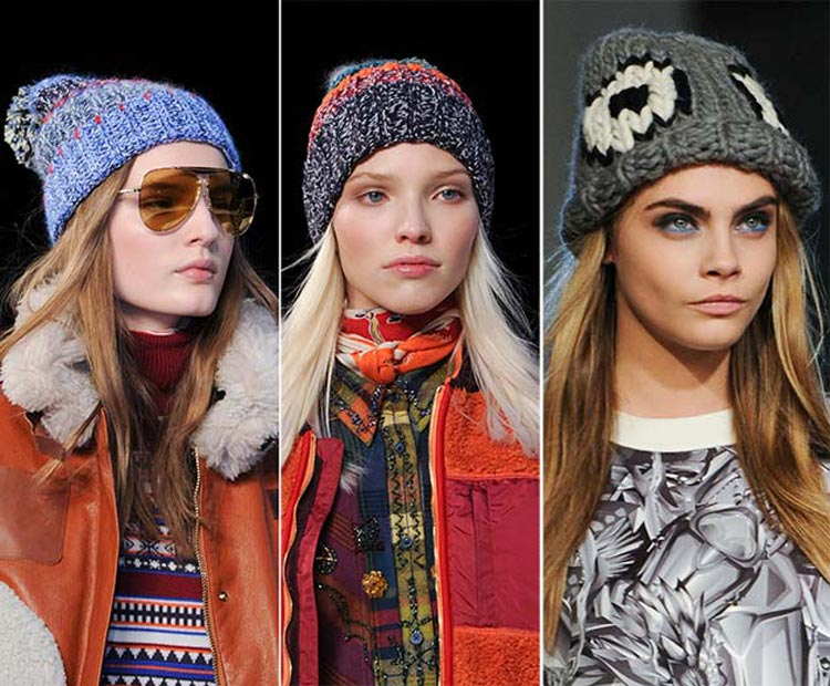 Čiapky a klobúky pre jeseň/zima 2014/2015: Pletené čiapky sa tento rok nenosia len na lyže!
