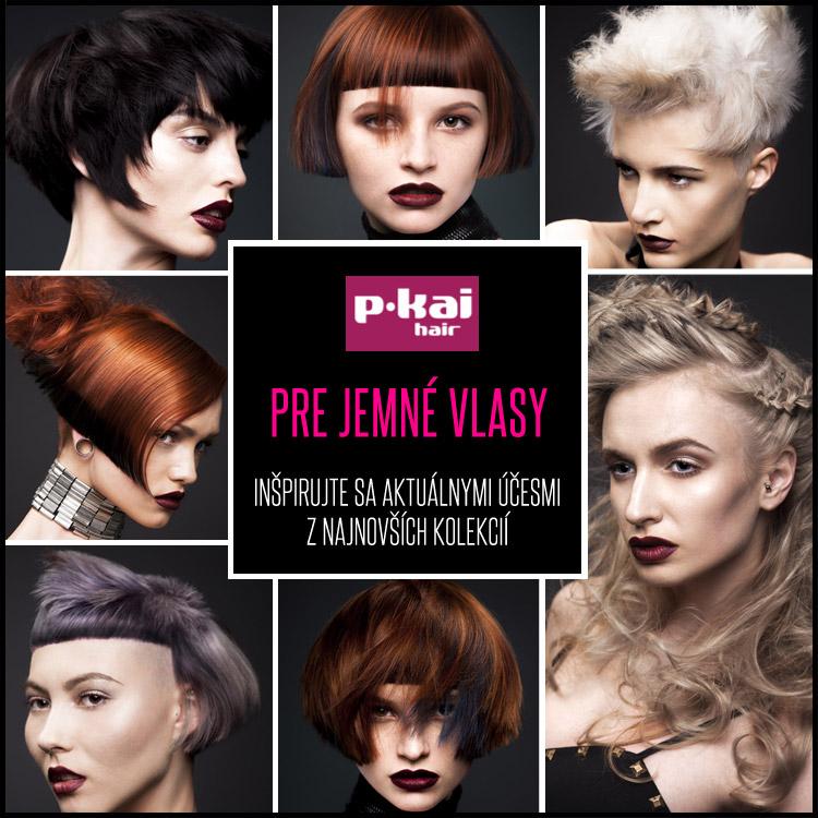 Účesy pre jemné vlasy z kolekcie Pkai Hair nazvanej Kai Wan 2014.