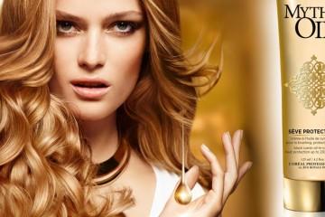 Mythic Oil Sève Protectrice chráni vlasy proti teplu pri úprave žehličkou alebo kulmou. Kaderníci L'Oréal Professionnel vám poradia, ako na to!