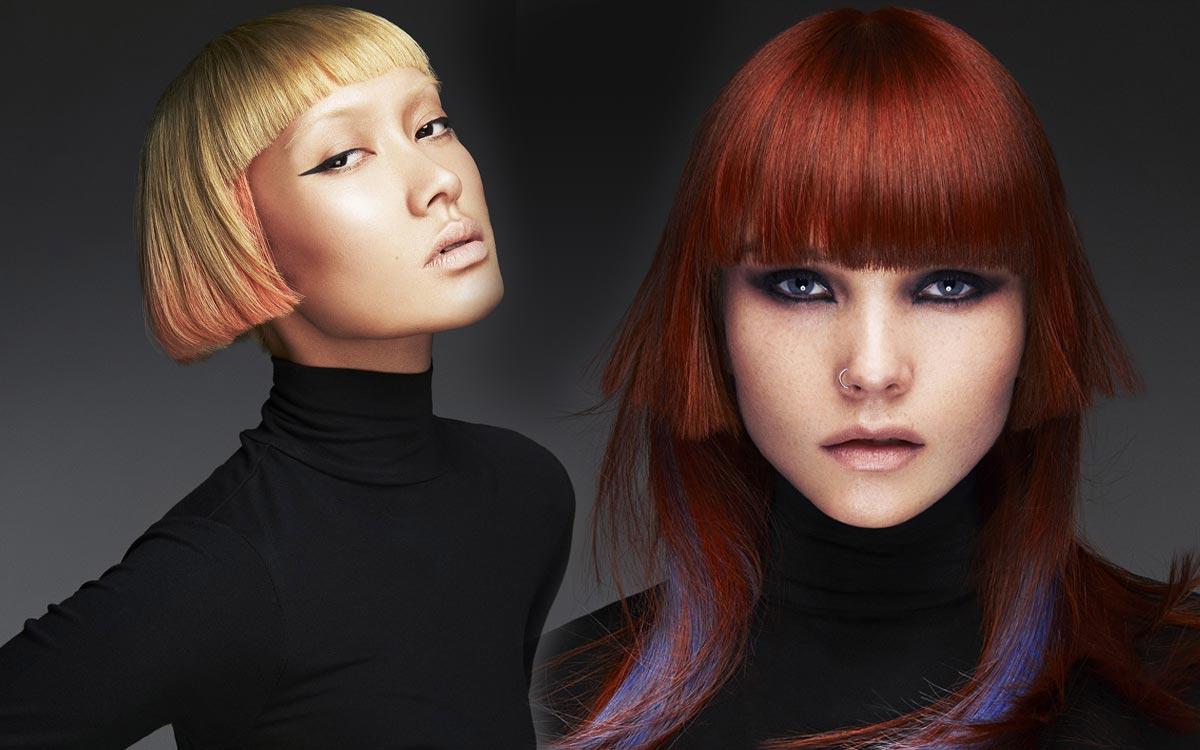 Podfarbenie vlasov je nový melír pre rok 2015. Účesy sú z kolekcie Ken Picton.