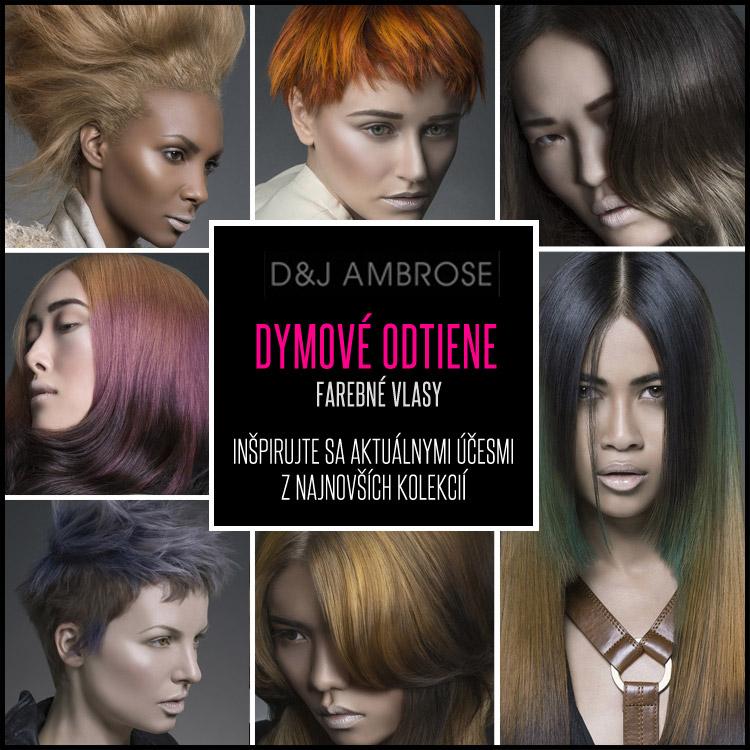 Farebné vlasy v úžasných dymových odtieňoch podľa D&J Ambrose.