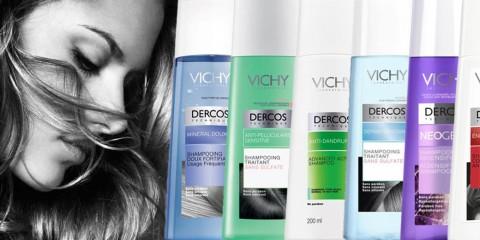Vlasová kozmetika Dercos ponúka šampóny Vichy, ktoré prinášajú riešenie pre všetky bežné, ale zákerné problémy, s ktorými sa naše vlasy stretávajú.