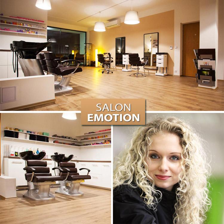 Renata Flámová, majiteľka nového štúdia Salon EMOTION a interiér jej nového zlínskeho kaderníctva.