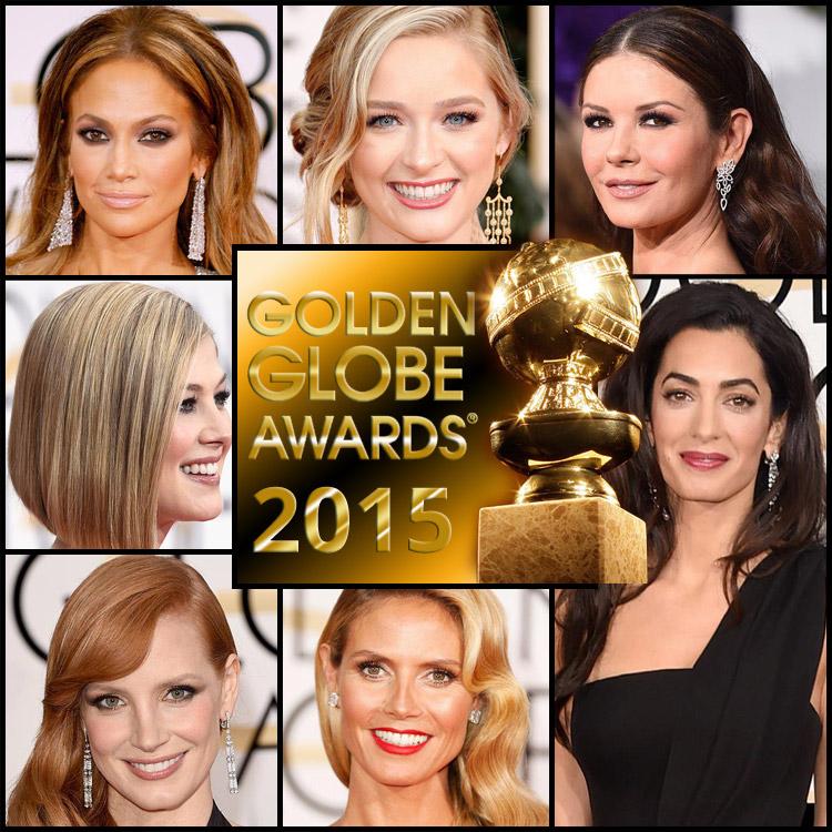 Inšpirujte sa slávnostnými účesmi z Golden Globes 2015.