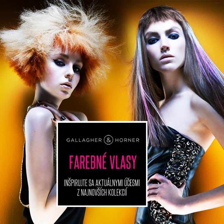 Farebné vlasy z kolekcie Gallagher&Horner – Spellbound.