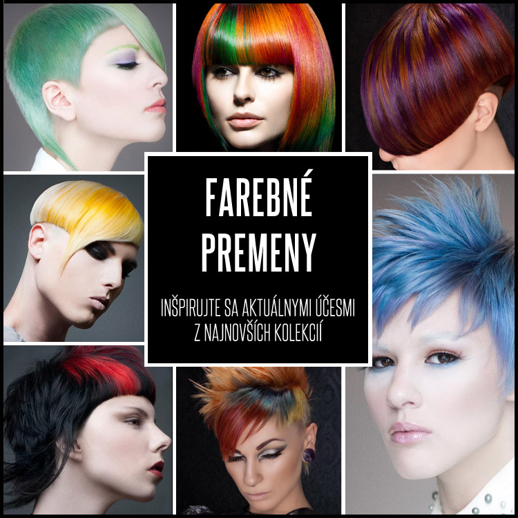 Zmena farby vlasov dokáže divy. Pozrite sa, aké skvostné účesy plné farieb môžete nosiť aj vy!