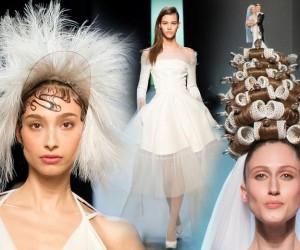 Jean Paul Gaultier opäť provokuje. Jeho Haute Couture kolekcia je jedna veľká provokatívna svadba. A najluxusnejšia nevesta prišla v natáčkach!
