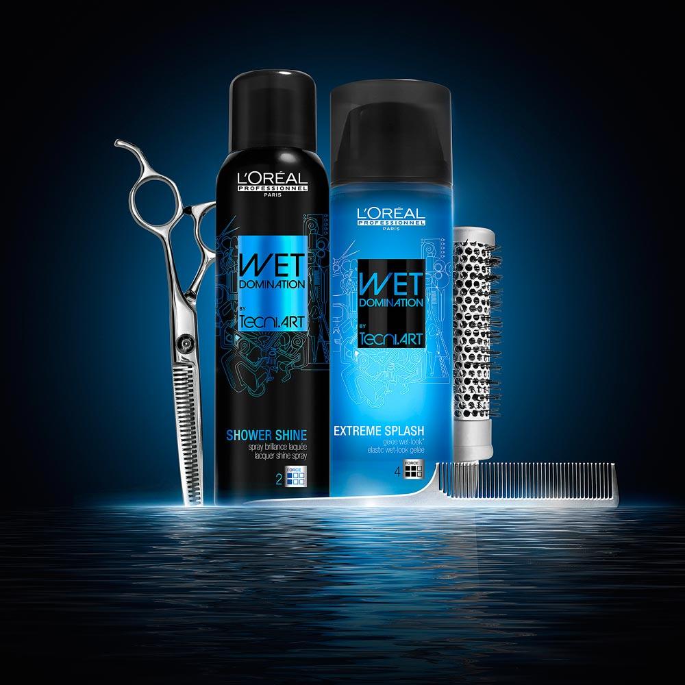Mokré vlasy pomocou Wet Domination: skúste módny mokrý vzhľad účesu!