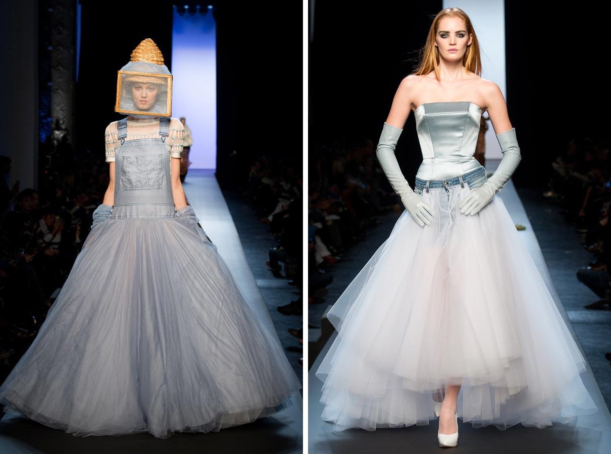 Svadba ako provokácia – v džínsovine, v bomber bunde aj v svadobných šatách pre Amazonky. Pre Jean Paul Gaultiera nie Haute Couture výzvou na predstavenie okázalého luxusu, ale k prezentácii jeho provokatívne kreativity.
