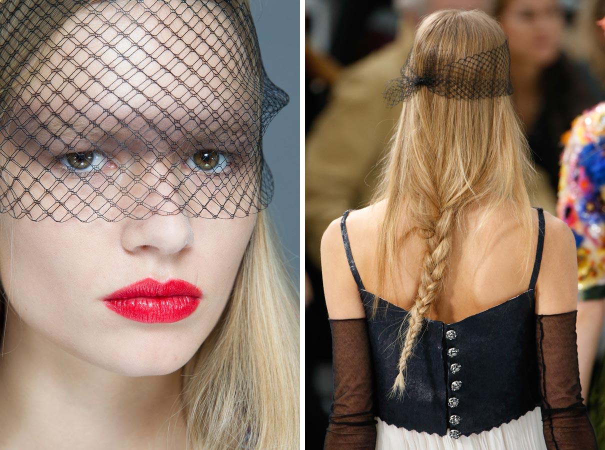 Tyl na závoj majte doma v pohotovosti. Zo zľahnutých vlasov rýchlo vykúzli party účes v štýle Chanel.