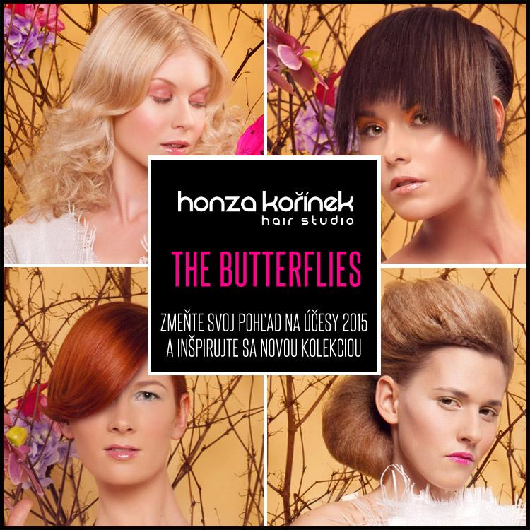 Honza Kořínek The Butterflies – nová kolekcia účesov Studia Honza Kořínek pre jar a leto 2015.