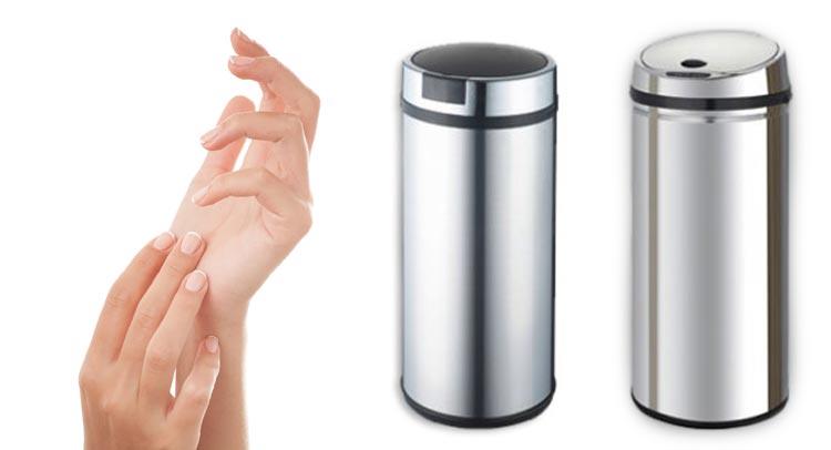 Vďaka bezdotykovému odpadkovému košu budú vaše ruky vždy čisté!