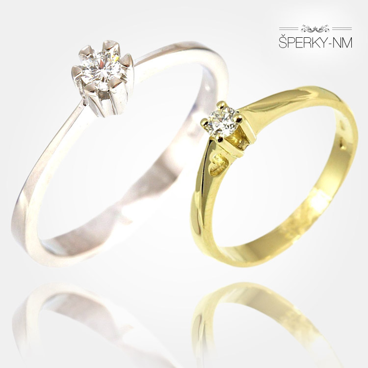 Zásnubné prstene majú byť zo zlata – bieleho, alebo žltého. Platí pravidlo, že by mali mať aspoň jeden biely kameň – diamant alebo lacnejší zirkón.