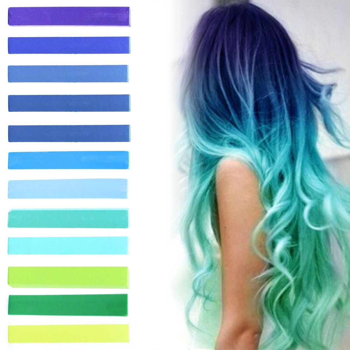 Pastelové farby – vzorkovník pre ombre hair chalk.