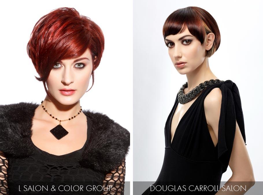 Účesy pre krátke vlasy jar/leto 2015 – hitom je farba roku 2015 Marsala.