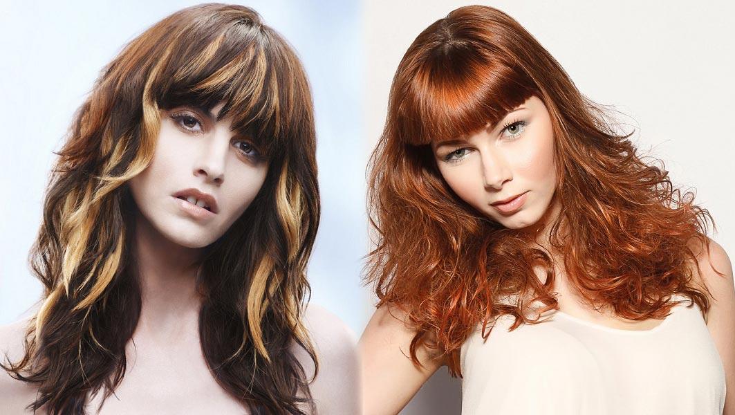 Zostrihané dlhé vlasy s ofinou – dva módne trendy 2015 v jednom účesu.