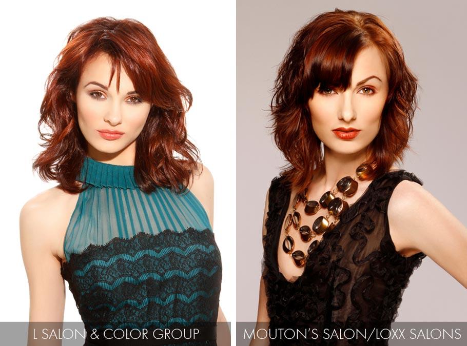 Účesy pre polodlhé vlasy jar/leto 2015 – hnedočervený odtieň účesov v farbe roka Marsala tento rok nesklame.