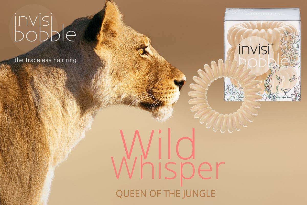 Queen of th Jungle – Invisibobble gumičky Wild Whisper – limitovaná kolekcia 2015 vo farbe púšte