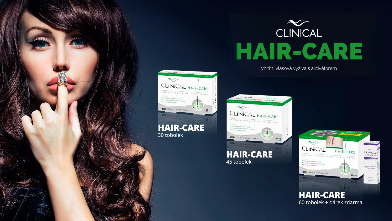 CLINICAL hair-care je vnútorná vlasová výživa s aktivátorom, ktorá pozitívne ovplyvní zdravie, krásu aj rast našich vlasov.
