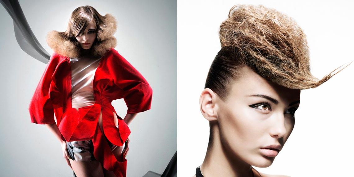 Extravagancia účesu pre dlhé vlasy môže stáť na textúre a kombinácii kontrastných textúr.
