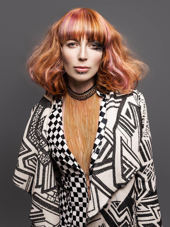 Vladimíra Konopáčová, Salon TOP, Třebíč – nominácia v súťažnej kategórii Color Zoom Collection 2015 GLOBAL CREATIVE COLORIST.