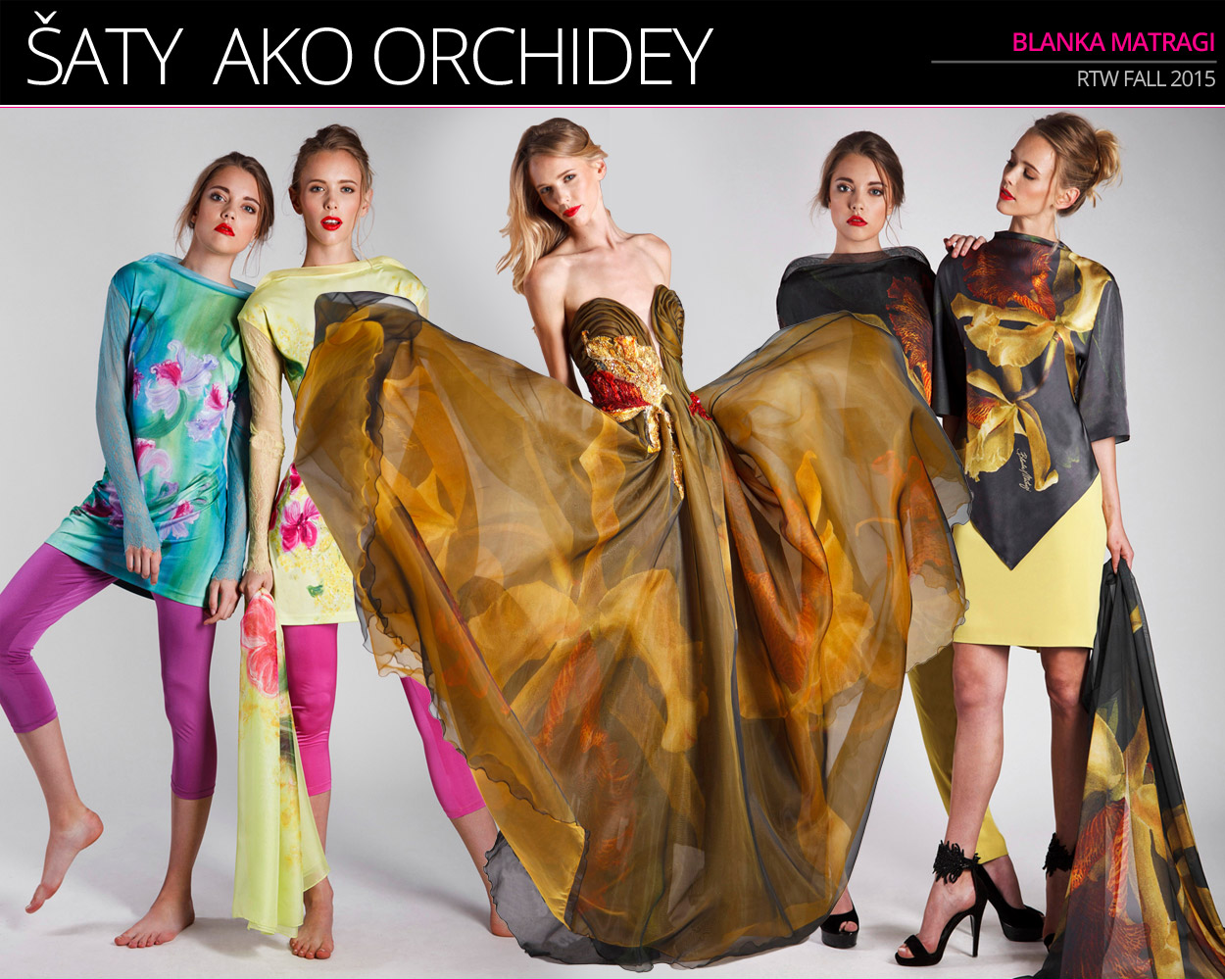 Blanka Matragi a jej RTW móda 2015 v kolekcii Orchidea.