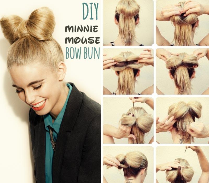 Jednoduché účesy pre dlhé vlasy na leto – Skúste veselý drdol v podobe obriej mašle.