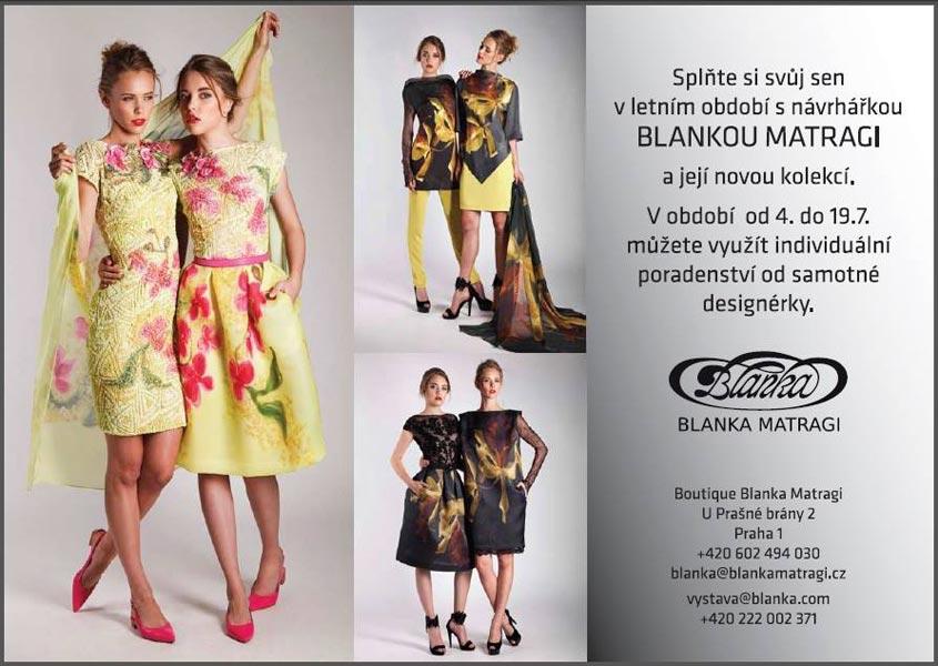 Kolekciu Blanka Matragi – Orchidea kúpite priamo v pražskom butiku alebo v e-shope návrhárky.