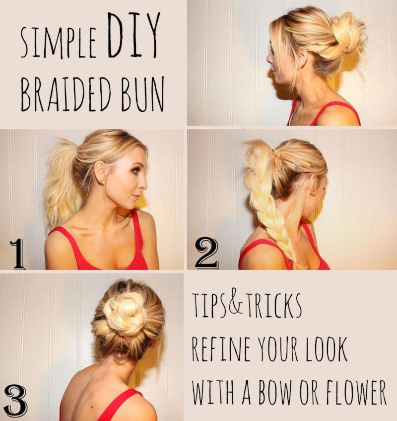 Jednoduché účesy pre dlhé vlasy na leto - Roztočte to! Alebo skôr zatočte to! Zapleťte si vrkoč a ten potom stočte do šnekovitého drdolu.