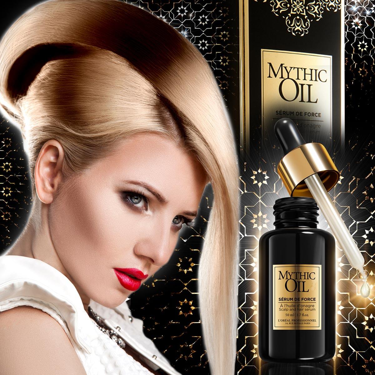 Sérum de Force z radu Mythic Oil sľubuje pomoc pre oslabené vlasy.