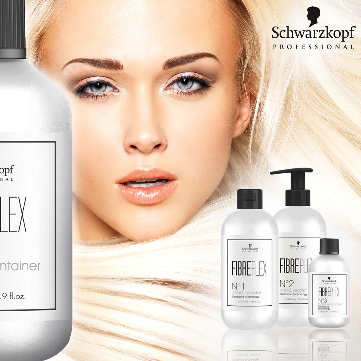 Vďaka FIBREPLEX od Schwarzkopf Professional sú teraz suché, lámavé a poškodené vlasy po farbení minulosťou.
