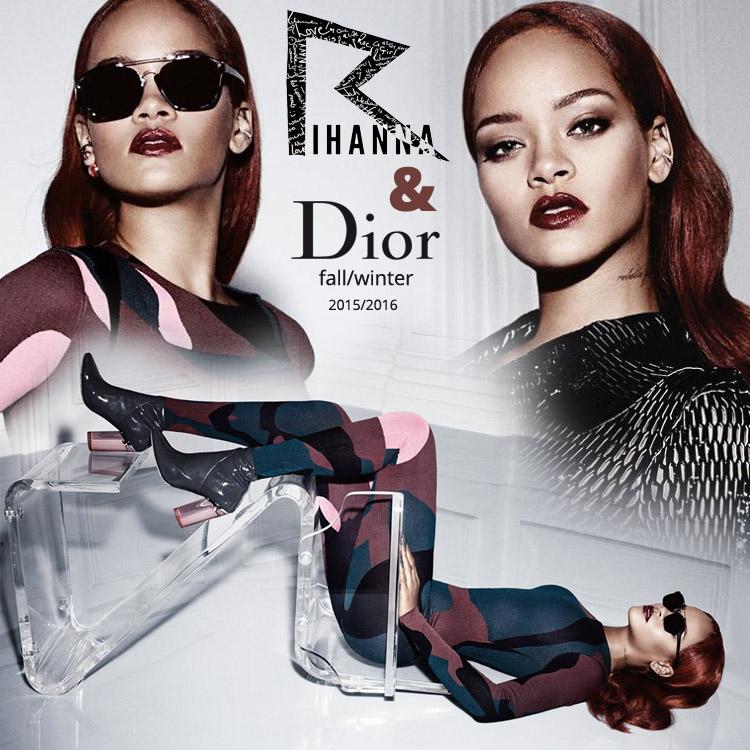 Rihanna žiari v kampani Dior v dokonalej farbe vlasov Marsala a podarených hollywoodskych vlnách!