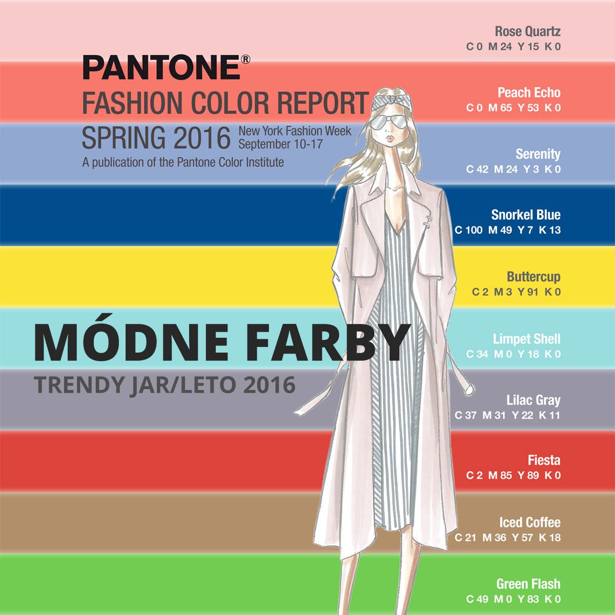 Farby 2016 – módne farby pre sezónu jar a leto 2016. Trendy farby pre oblečenie, módne doplnky, nábytok, interiéry aj pre kozmetiku a ako inšpirácia pre kaderníkov.