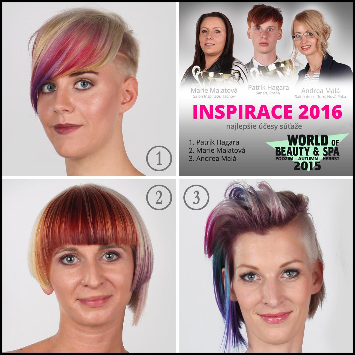 Účesy zo 6. ročníka kaderníckej súťaže World of Beauty & amp; Spa – Inšpirácie 2016.
