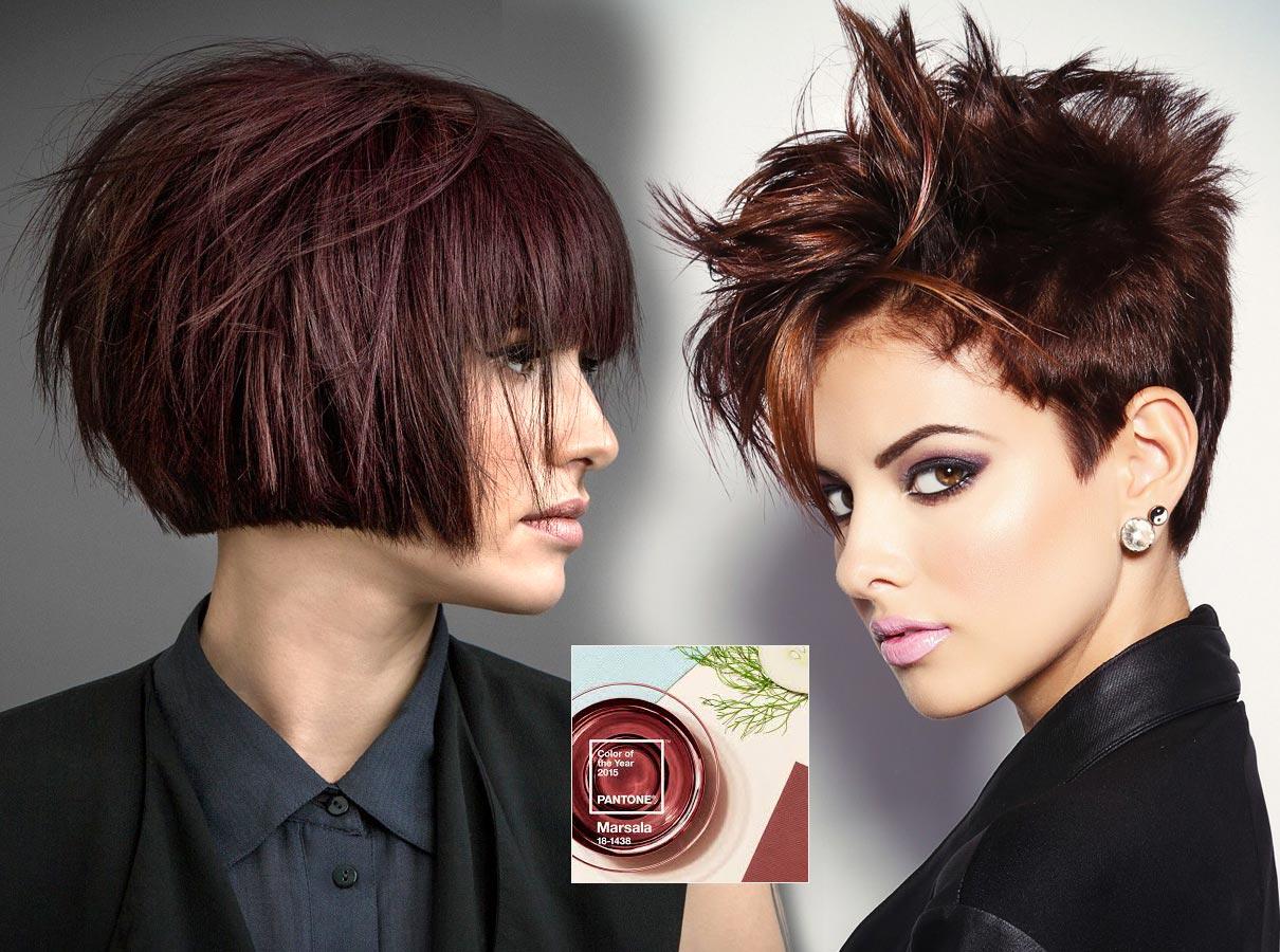 Trendy farby pre krátke vlasy jeseň   zima 2015 2016  hnedočervená farba  roku 2015 bb8cf688b46