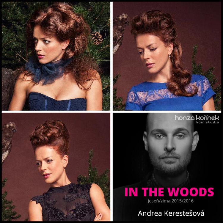 Honza Kořínek jeseň/zima 2015/2016 – kolekcia In THE woods: Andrea Kerestešová